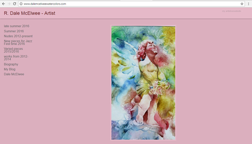 A screen capture of R. Dale McElwee's art website