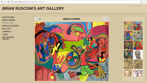 A screen capture of a gallery on Brian Rusconi's art website