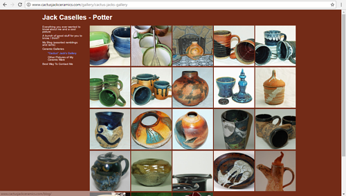 Jack Caselles' online gallery of ceramic works
