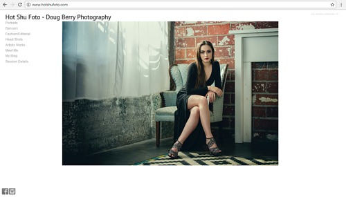 A screen capture of Doug Berry's photo studio website