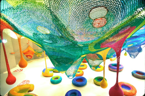 A photo of a netting project by Toshiko Horiuchi-MacAdam