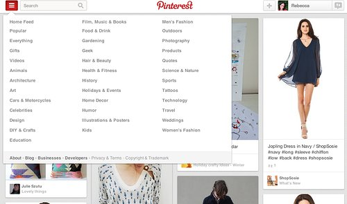 Pinterest website