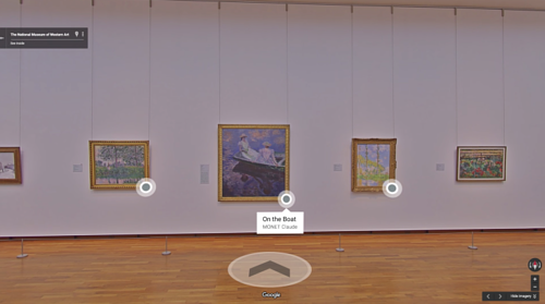 A screen capture of a Google view inside a museum