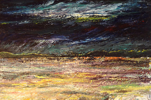 An abstract painting of a storm by David Tycho
