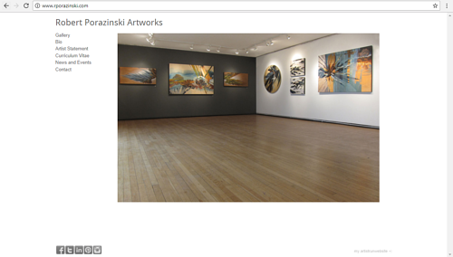 The front  page of Robert Porazinski's art website