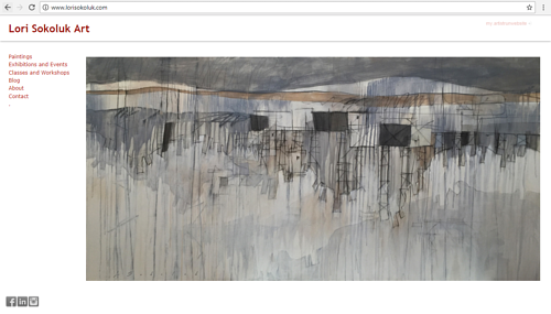 The front page of Lori Sokoluk's art website