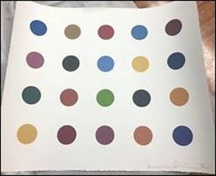 An alleged fake Damien Hirst art print