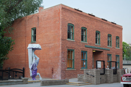 An exterior photo of the Boulder Museum of Contemporary Art in Colorado