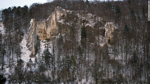 The exterior of a cave system classified as a UNESCO heritage site