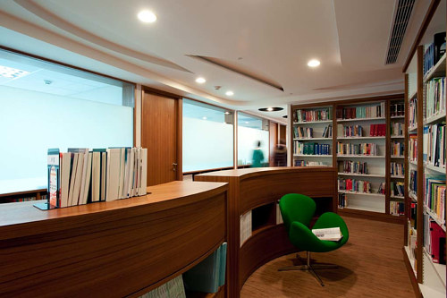 A photo of interior designs for a law office