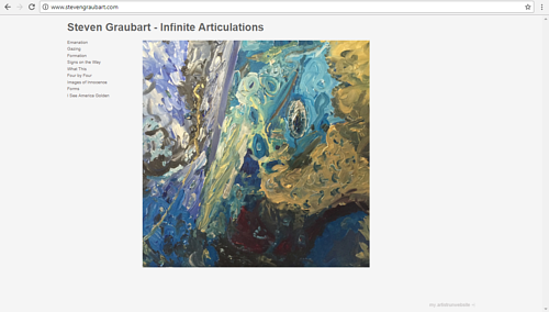 A screen capture of Steven Graubart's art website