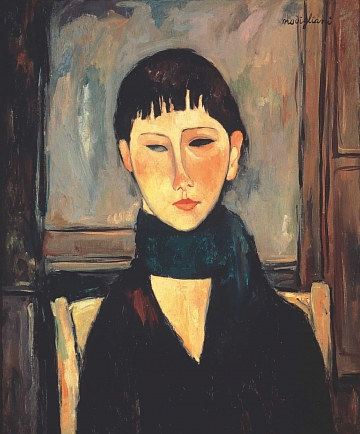 Ritratto Di Maria, a 1918 painting by Amadeo Modigliani