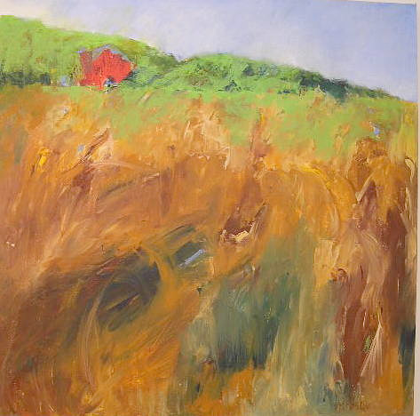 A painting of a Wisconsin field