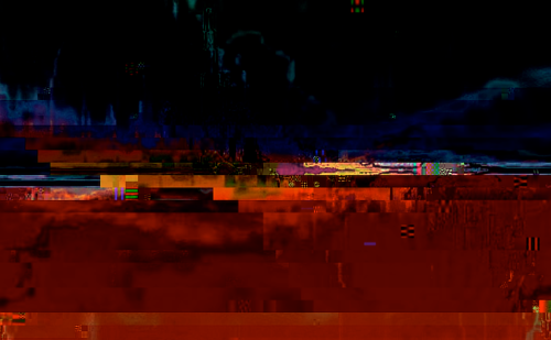 A digitally manipulated waveform glitch
