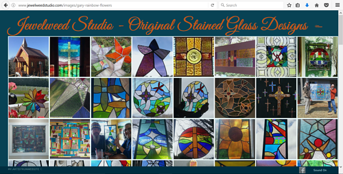 A screen capture of the Jewelweed Studios website