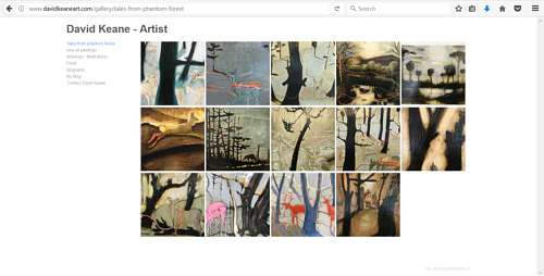 A painting gallery on David Keane's art website