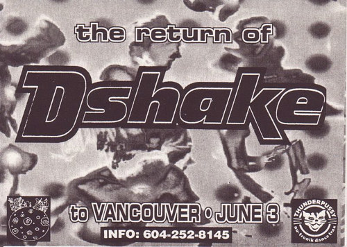 A poster for a DJ show in the 1990s