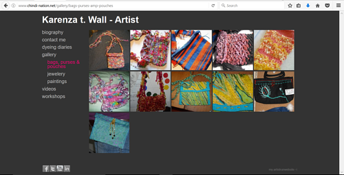 A gallery of handmade bags by Karenza T. Wall