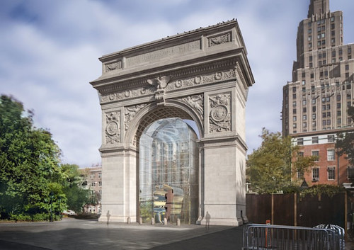 A rendering of an AiWeiwei art piece planned for Washington Square Park
