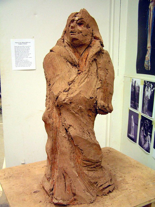 A sculpture made in the image of Rodin's Balzac