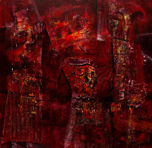 A heavy red abstraction