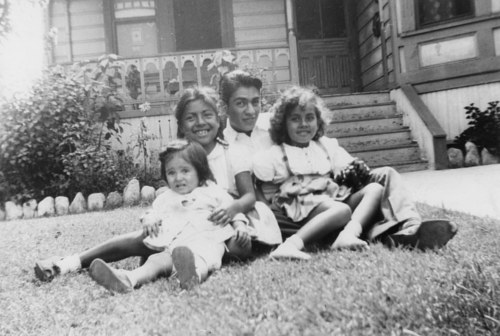 A 1945 photo of a Mexican family in Boyle Heights, Los Angeles