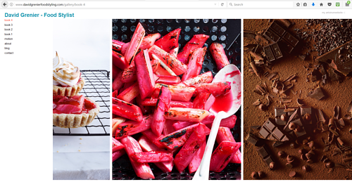 A gallery on David Grenier's food photography website