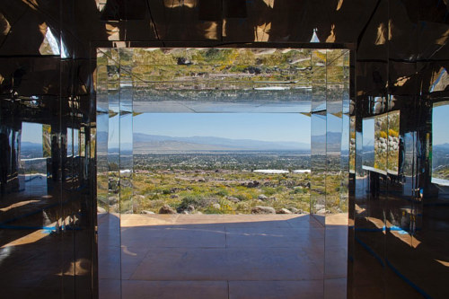 A photo of Doug Aitken's Mirage artwork