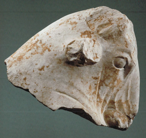 A 2,300 year old bull's head sculpture from Lebanon