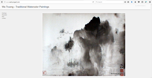 The front page of Wa Truong's art website