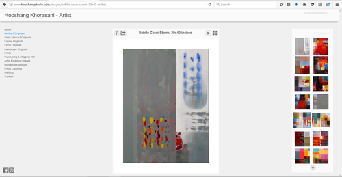 The gallery of abstracts on Hoosang Khorasani's art website