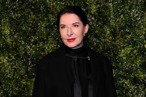 A photo of Marina Abramovich at an event