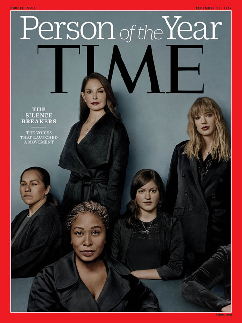 The cover of Time Magazine's 2017 Person of the Year issue