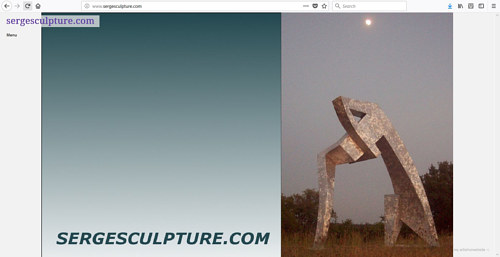 A screen capture of Serge Mozhnevsky's art website