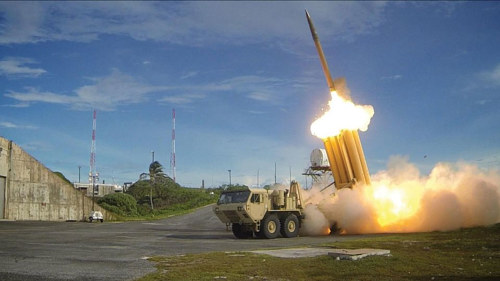 A US missile defense system installed in South Korea