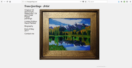 The front page of Frans Geerlings art website
