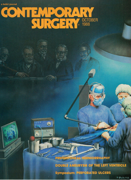 A cover illustration for a surgical journal