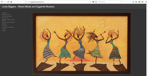 The front page of Linda Biggers art website