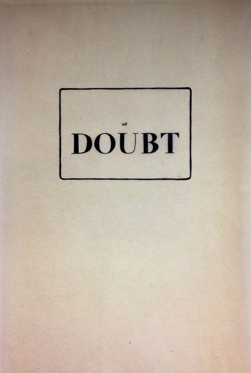 A text art piece combining the words self and doubt