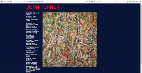 A screen capture of John Turner's art website
