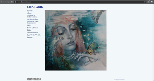 A screen capture of Liba Labik's art studio