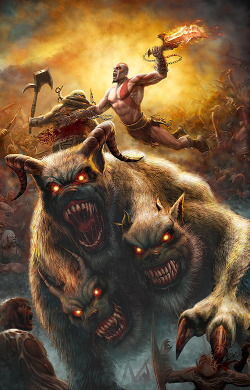 Cover art for the video game God of War 2