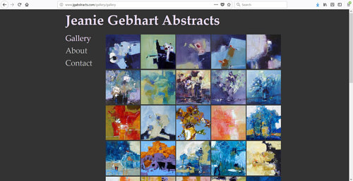 The gallery of paintings on Jeanie Gebhart's art website