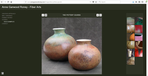 The gallery of gourds on Anne Garwood Roney's art website
