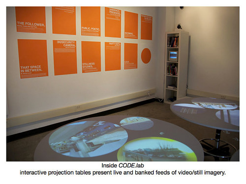 An interior photograph of the installation code.lab