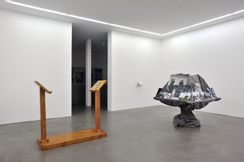 A photo of an installation in a Paris gallery