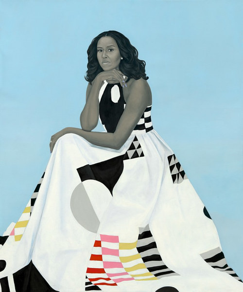 Amy Sheralds portrait of Michelle Obama