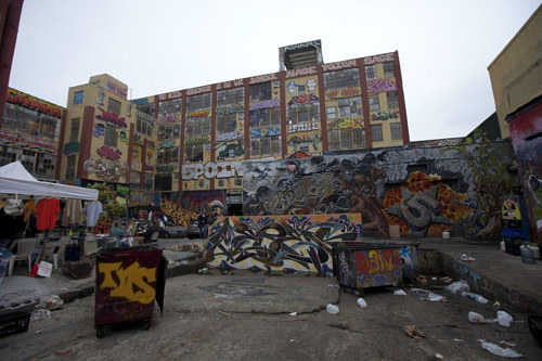 A photograph of the former 5 Pointz art attraction