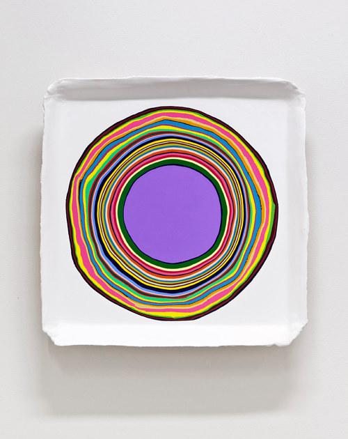 A painting with a circle of color at its centre