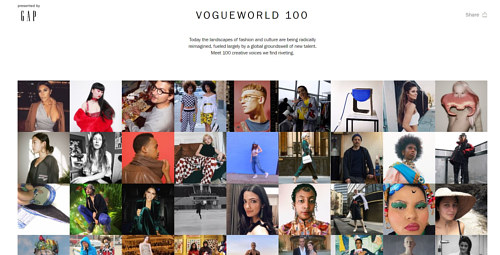 Vogue's list of 100 influencers in 2018